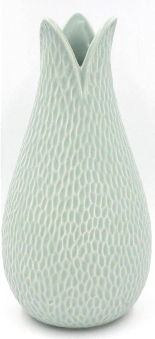 Ваза Magic Home, цвет: светло-зеленый, 25 см76806Необычная ваза, выполненная из фаянса, станет прекрасным украшением интерьера и подчеркнет его уникальность. Керамическую вазу можно преподнести в качестве практичного подарка или оригинального сувенира.