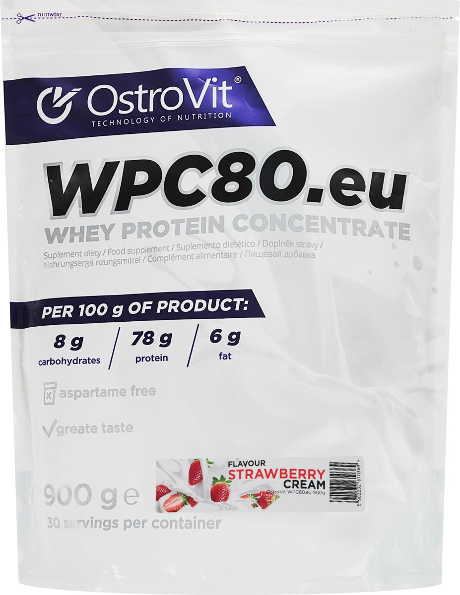 Протеин OstroVit WPC80, клубника, 900 г5902232610369Высококачественный Европейский протеин Ostrovit с Международной сертификацией GMP имеет в составе 80% белка и комплекс незаменимых аминокислот BCAA и EAA.Состав (1 мерная ложка - 30 г): калории 114 Ккал, белок 23,4 г, жиры 1,8 г, углеводы 4,29 г, натрий 0,225 мг, соль 0,14 г. Ингредиенты: концентрат сывороточного белка, полученный путем ультрафильтрации, рапсовый лецитин, сукралоза, подсластитель (экстракт стевии). Уважаемые клиенты! Обращаем ваше внимание на то, что упаковка может иметь несколько видов дизайна. Поставка осуществляется в зависимости от наличия на складе.Как повысить эффективность тренировок с помощью спортивного питания? Статья OZON Гид