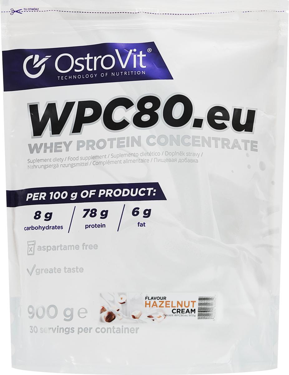 Протеин OstroVit WPC80, лесной орех, 900 г5902232610352Высококачественный Европейский протеин Ostrovit с Международной сертификацией GMP имеет в составе 80% белка и комплекс незаменимых аминокислот BCAA и EAA.Состав (1 мерная ложка - 30 г): калории 114 Ккал, белок 23,4 г, жиры 1,8 г, углеводы 4,29 г, натрий 0,225 мг, соль 0,14 г. Ингредиенты: концентрат сывороточного белка, полученный путем ультрафильтрации, рапсовый лецитин, сукралоза, подсластитель (экстракт стевии). Уважаемые клиенты! Обращаем ваше внимание на то, что упаковка может иметь несколько видов дизайна. Поставка осуществляется в зависимости от наличия на складе.Как повысить эффективность тренировок с помощью спортивного питания? Статья OZON Гид