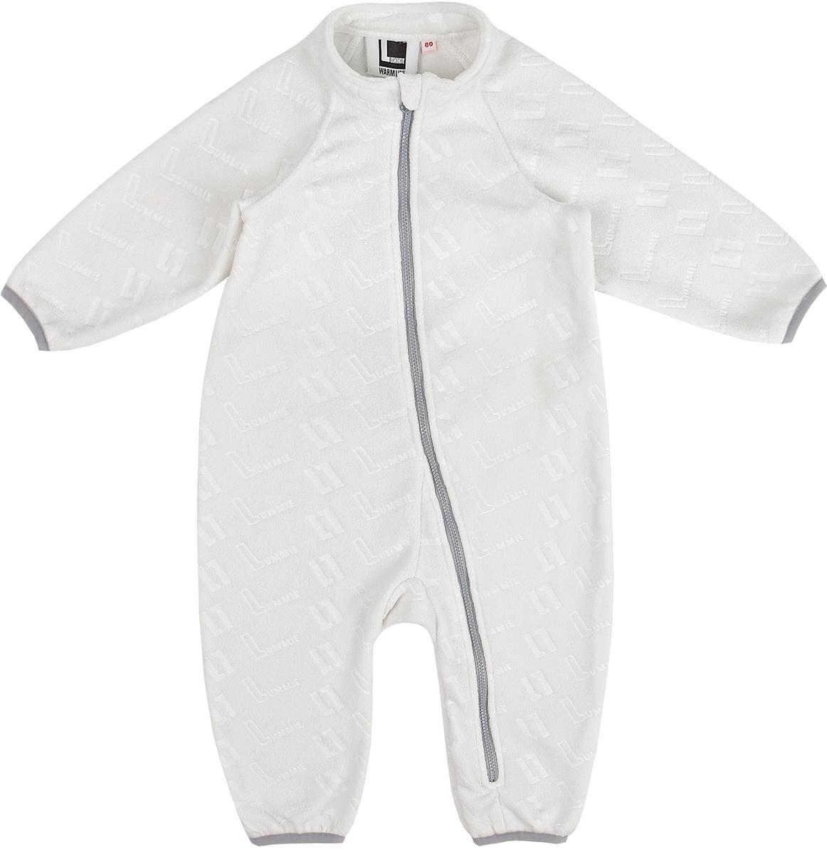 Комбинезон флисовый детский Lummie, цвет: белый. WL-19 L_white. Размер 86, 18 месяцев