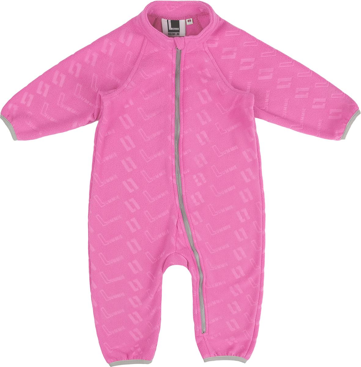 Комбинезон флисовый для девочки Lummie, цвет: розовый. WL-23 L_pink. Размер 104, 4 года коммутатор ubiquiti us 8 60w eu