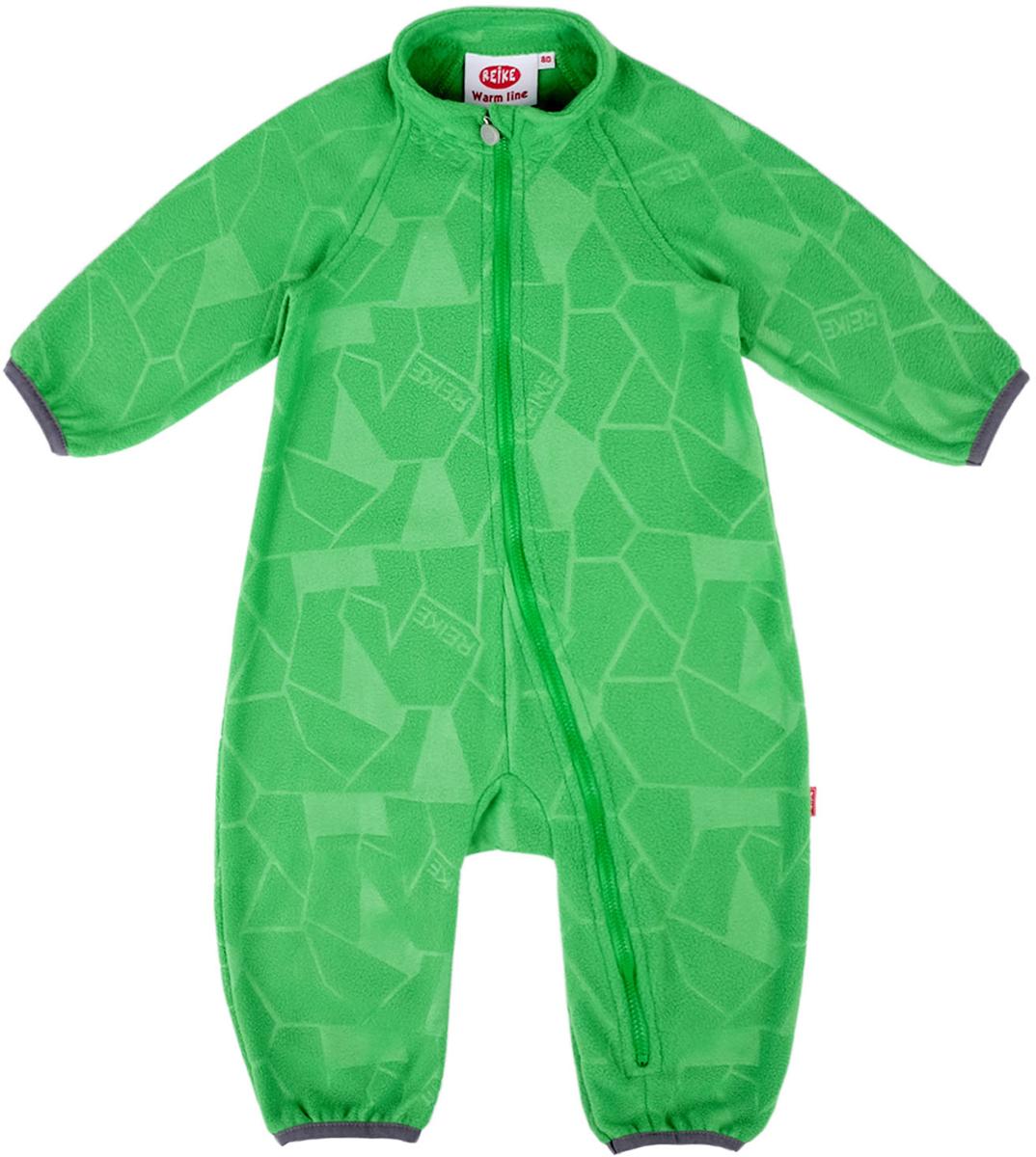 Комбинезон флисовый детский Reike, цвет: зеленый. WL-17_green. Размер 104, 4 годаWL-17_greenЛиния одежды Reike Warm Line, разработанная из мягкого и теплого флиса, идеально подойдет для ребенка в прохладное время года. Длинные рукава, воротник-стойка, комбинезон застегивается на длинную застежку-молнию, имеется защита подбородка. Флис «дышит» и, в отличие от натуральных тканей, не накапливает влагу, а отводит ее от тела, обеспечивая комфорт. Комбинезон можно носить отдельно, как домашнюю одежду, и надевать под верхнюю одежду Reike для создания дополнительного утепления.