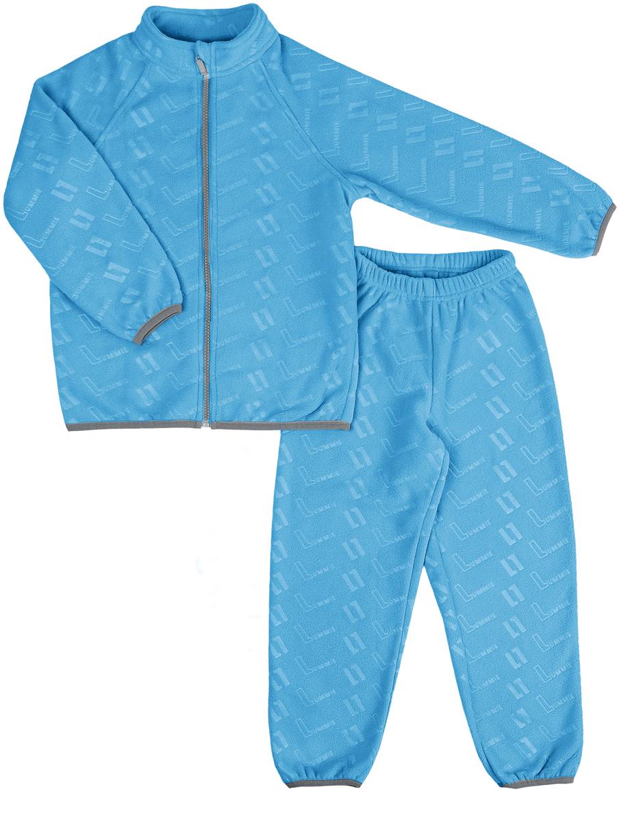 Комплект флисовый детский Lummie: куртка, брюки, цвет: синий. WL-22 L_blue. Размер 134, 9 летWL-22 L_blueДетский флисовый костюм Lummie состоит из куртки и брюк. Куртка имеет воротник-стойку, длинные рукава-реглан, застегивается на молнию. Брюки с эластичной резинкой на талии комфортны и не сковывают движений.