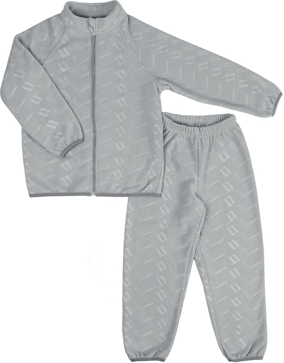 Комплект флисовый детский Lummie: куртка, брюки, цвет: серый. WL-26 L_grey. Размер 116, 6 летWL-26 L_greyДетский флисовый костюм Lummie состоит из куртки и брюк. Куртка имеет воротник-стойку, длинные рукава-реглан, застегивается на молнию. Брюки с эластичной резинкой на талии комфортны и не сковывают движений.