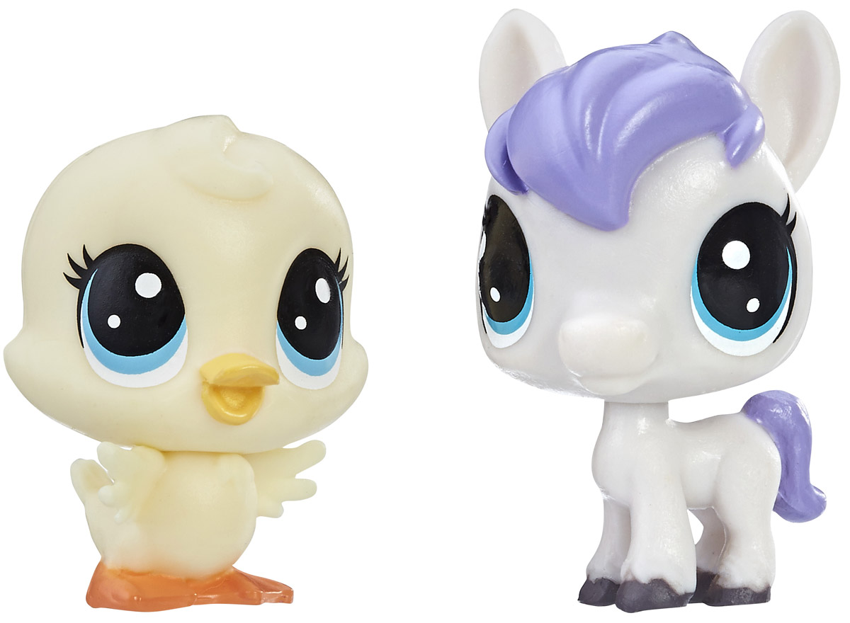 Littlest Pet Shop Набор фигурок Dash Horseton & May Duckly набор для детского творчества набор д вышивания гладью littlest pet shop