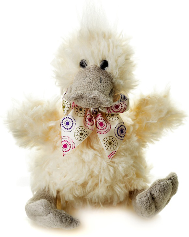 Maxitoys Мягкая игрушка Утенок Кряк с серым клювом 15 см