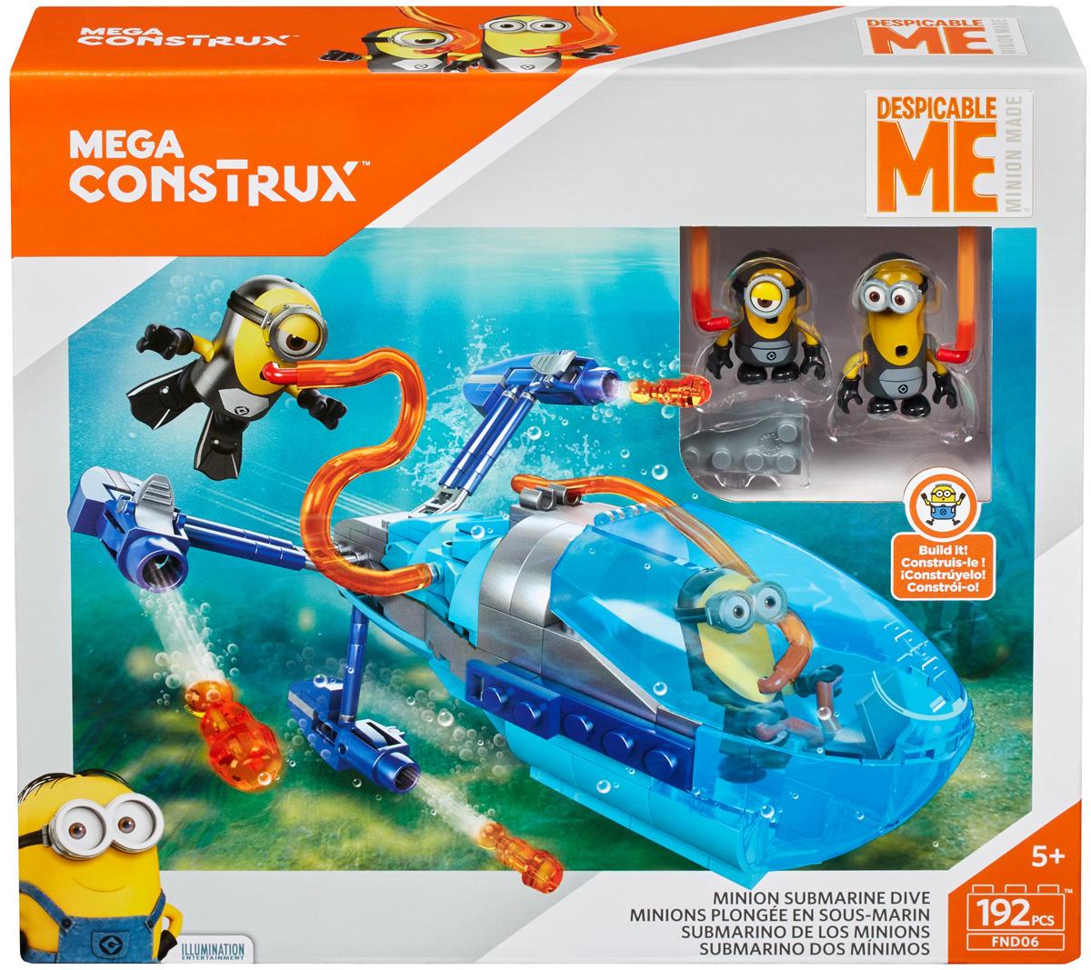 Mega Bloks/Mega Construx Кораблик Гадкий Я-3 Субмарина крючок двойной tatkraft mega lock на вакуумном шурупе
