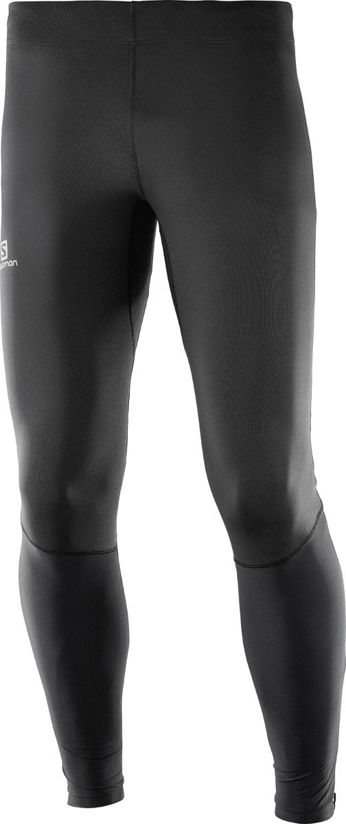Тайтсы мужские Salomon Agile Long Tight M, цвет: черный. L40117400. Размер M (48)L40117400Мужские тайтсы от Salomon выполнены из высококачественного эластичного материала. Модель облегающего кроя с эластичной резинкой на талии.