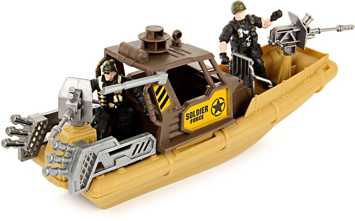 Veld-Co Набор военный для сюжетной игры с катером veld co игровой набор с куклой торговый центр