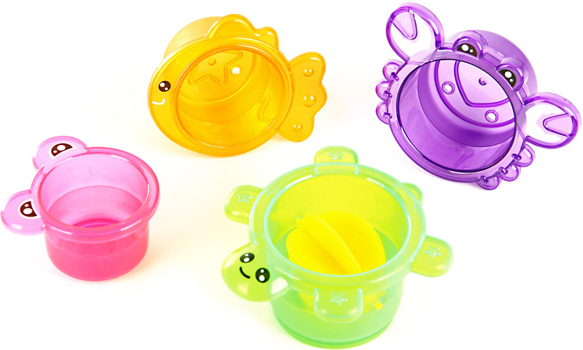 Ути Пути Набор игрушек для ванной 4 шт 61562