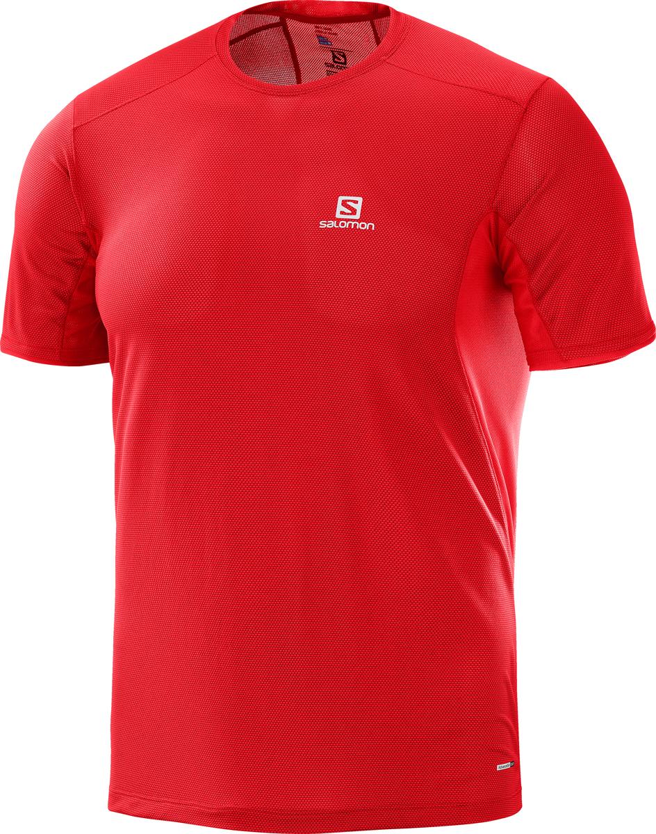 Футболка мужская Salomon Trail Runner SS Tee M, цвет: красный. L40099700. Размер XXL (54)L40099700Мужская футболка с круглым вырезом горловины и короткими рукавами выполнена из полиэстера. Спереди модель оформлена логотипом бренда.
