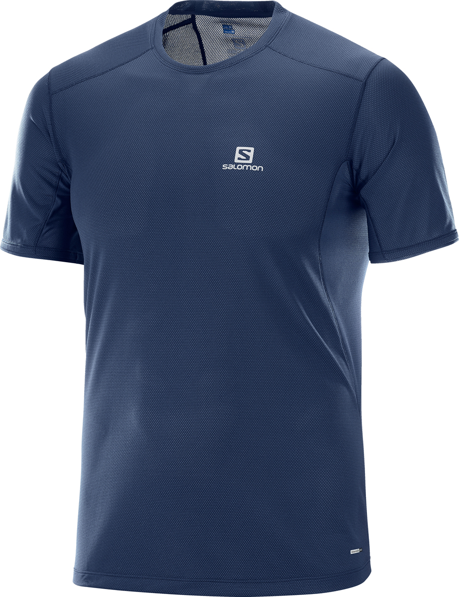 Футболка мужская Salomon Trail Runner SS Tee M, цвет: синий. L40099500. Размер XXL (54)