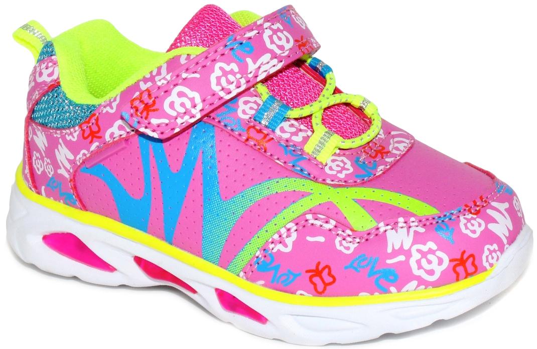 Кроссовки для девочки Капитошка, цвет: фуксия. E7877. Размер 30E7877со светодиодами