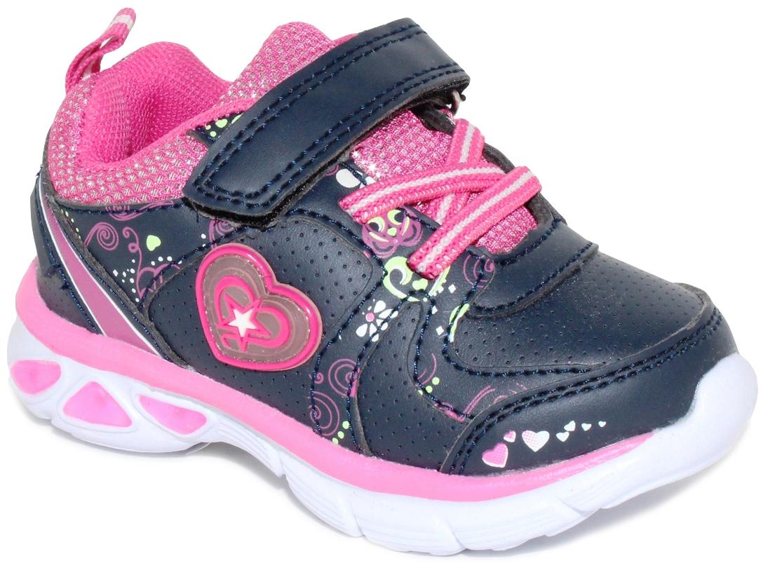 Кроссовки для девочки Капитошка, цвет: синий. E7873. Размер 26E7873со светодиодами