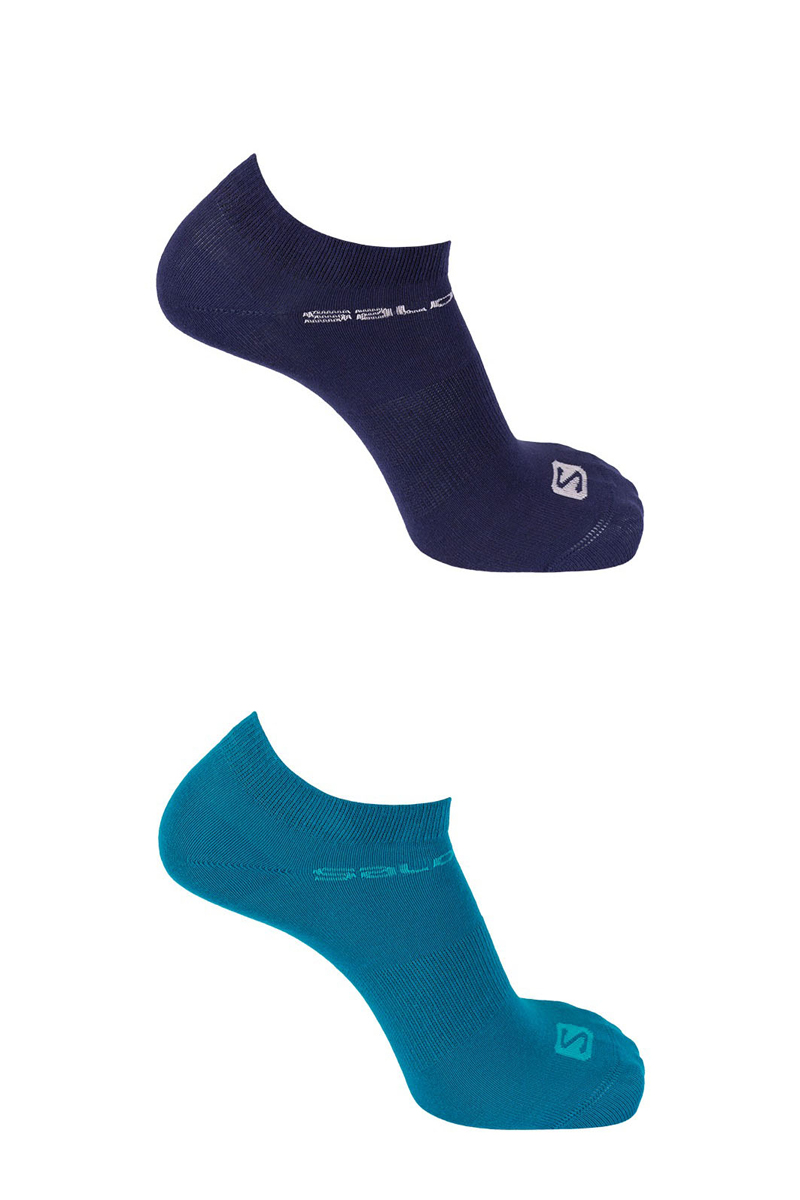 Комплект носков Salomon Socks Festival, цвет: голубой, синий, 2 пары. L40277700. Размер S (34,5/37) iwhd american style loft vintage pendant lights fixtures bar home lighting edison retro industrial lamp luminaire