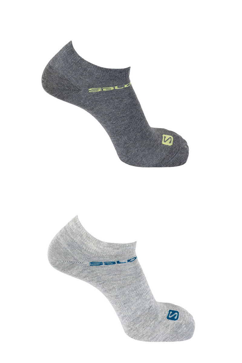 Комплект носков Salomon Socks Festival, цвет: серый, светло-серый, 2 пары. L40277800. Размер S (34,5/37)L40277800Комплект от Salomon состоит из двух пар спортивных укороченных носков. Носки изготовлены из высококачественного материала. Комфортная широкая резинка не сдавливает и комфортно облегает ногу. Обладают повышенной прочностью, благодаря усиленной пятке и мыску. Идеальное сочетание практичности, легкости и комфорта.