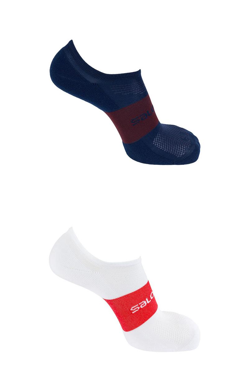 Комплект носков Salomon Socks Sonic, цвет: белый, синий, 2 пары. L40274900. Размер M (38/40) комплект из 3 пар носков