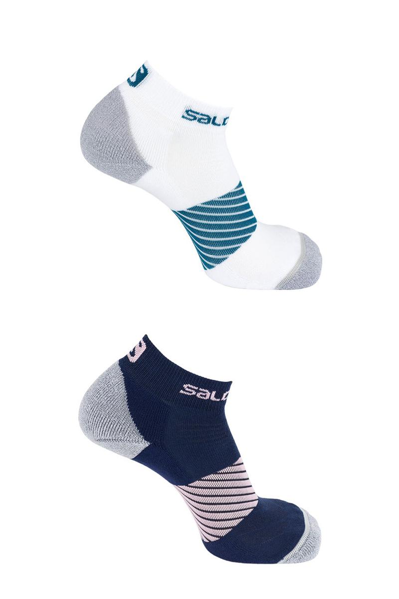Комплект носков Salomon Socks Speed, цвет: голубой, синий, 2 пары. L40278100. Размер XL (44/46)L40278100Комплект от Salomon состоит из двух пар спортивных укороченных носков. Носки изготовлены из высококачественного материала. Комфортная широкая резинка не сдавливает и комфортно облегает ногу. Обладают повышенной прочностью, благодаря усиленной пятке и мыску. Идеальное сочетание практичности, легкости и комфорта.