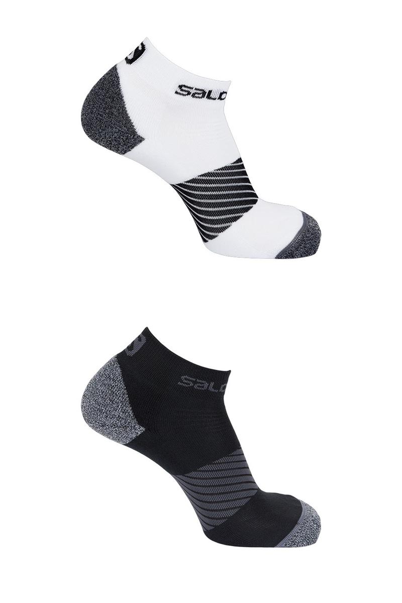 Комплект носков Salomon Socks Speed, цвет: черный, белый, 2 пары. L40277900. Размер M (38/40)L40277900Комплект от Salomon состоит из двух пар спортивных укороченных носков. Носки изготовлены из высококачественного материала. Комфортная широкая резинка не сдавливает и комфортно облегает ногу. Обладают повышенной прочностью, благодаря усиленной пятке и мыску. Идеальное сочетание практичности, легкости и комфорта.