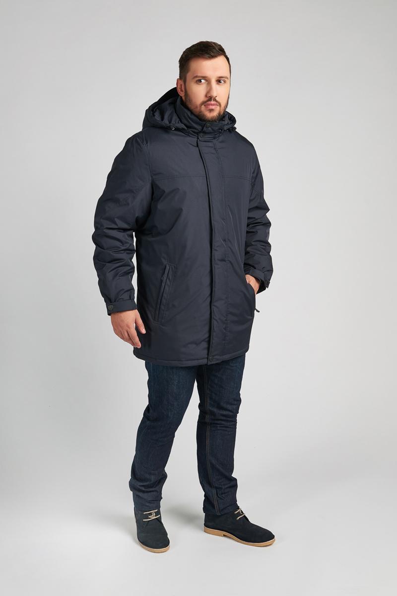 Куртка мужская Vizani, цвет: синий. 10587С_99. Размер 5810587С_99Мужская куртка Vizani выполнена из высококачественного материала. Модель с капюшоном застегивается на застежку-молнию и дополнительно ветрозащитным клапаном на кнопки. Куртка дополнена карманами.