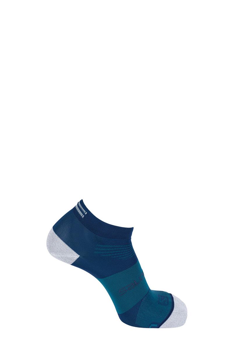 Носки Salomon Socks Sonic Pro, цвет: синий. L40274800. Размер S (34,5/37)L40274800Носки от Salomon изготовлены из высококачественного материала. Комфортная широкая резинка не сдавливает и комфортно облегает ногу. Обладают повышенной прочностью, благодаря усиленной пятке и мыску. Идеальное сочетание практичности, легкости и комфорта.