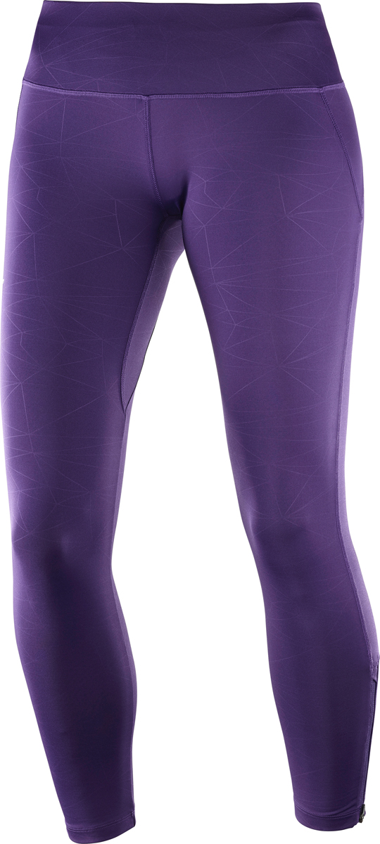 Тайтсы женские Salomon Agile Long Tight W, цвет: фиолетовый. L40126200. Размер XL (52/54) тайтсы asics тайтсы tiger stripe knee tight