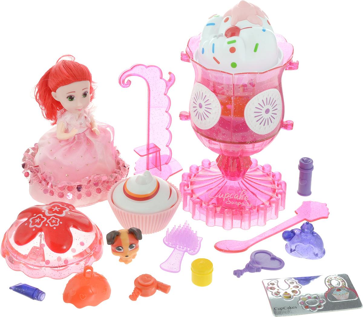 Emco Игровой набор Cupcake Surprise Мороженое Туалетный столик с куклой Капкейк и питомцем цвет розовый - Куклы и аксессуары