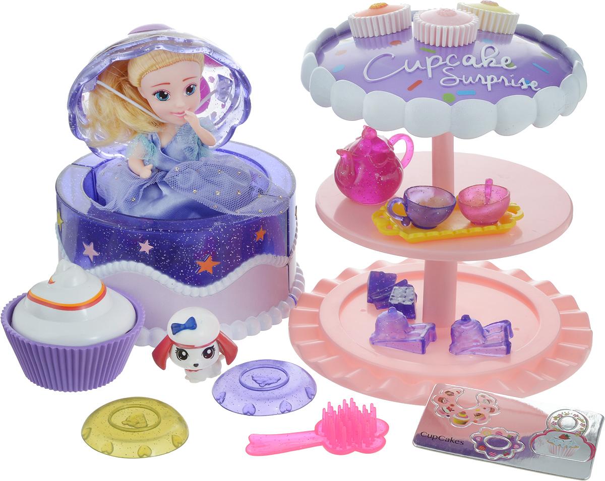 Emco Игровой набор Cupcake Surprise Чайная вечеринка с куклой Капкейк и питомцем цвет сиреневый - Куклы и аксессуары
