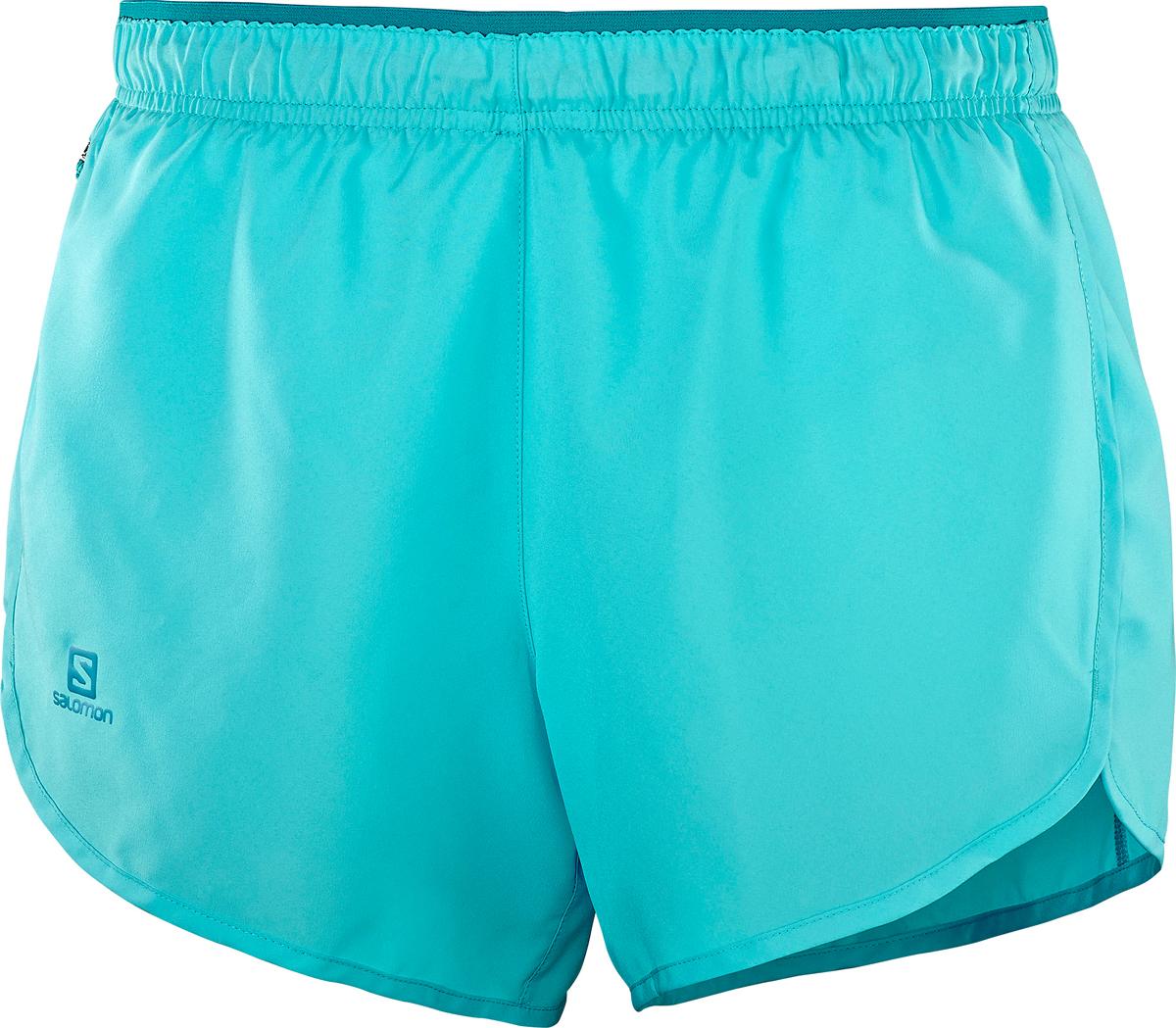 Шорты женские Salomon Agile Short W, цвет: голубой. L40128600. Размер M (46/48)L40128600Укороченные шорты от Salomon выполнены из высококачественного материала. Модель с эластичной резинкой на талии.