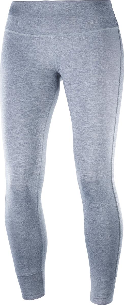 Тайтсы женские Salomon Mantra Tech Leg W, цвет: серый. L40065400. Размер L (50)L40065400Женские тайтсы для бега от Salomon выполнены из высококачественного эластичного материала. Модель облегающего кроя с эластичной резинкой на талии.