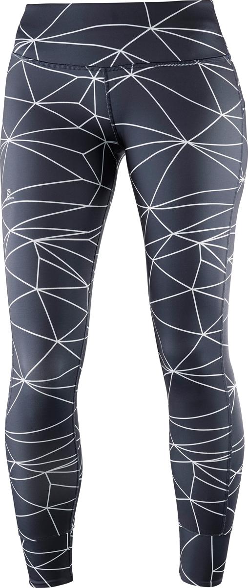 Тайтсы женские Salomon Mantra Tech Leg W, цвет: серый. L40066100. Размер M (46/48)L40066100Женские тайтсы для бега от Salomon выполнены из высококачественного эластичного материала. Модель облегающего кроя с эластичной резинкой на талии.