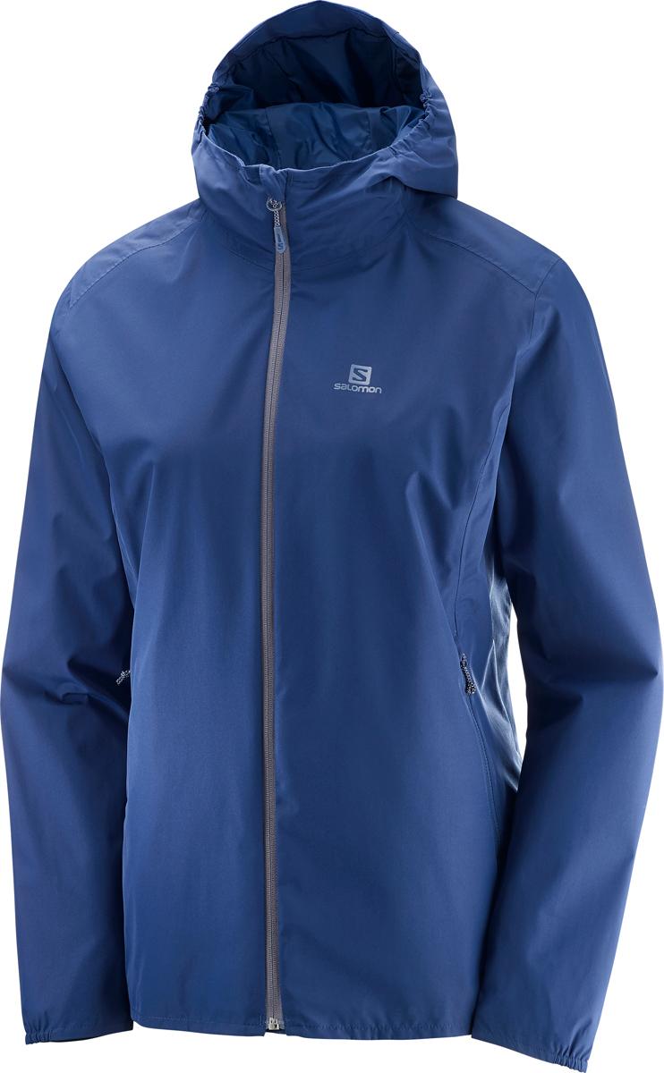 Купить Куртка женская Salomon Essential JKT W, цвет: синий. L40072600. Размер M (46/48)