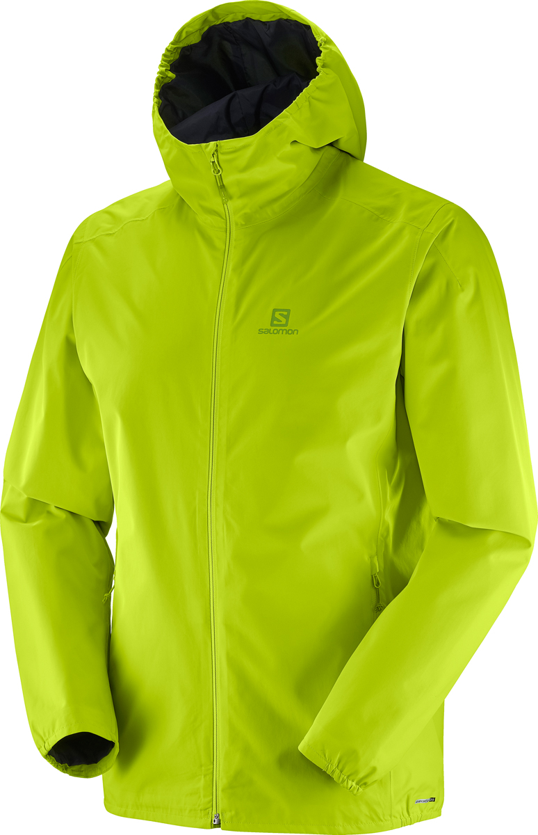 Куртка мужская Salomon Essential JKT M, цвет: лайм. L40077000. Размер XL (52)L40077000