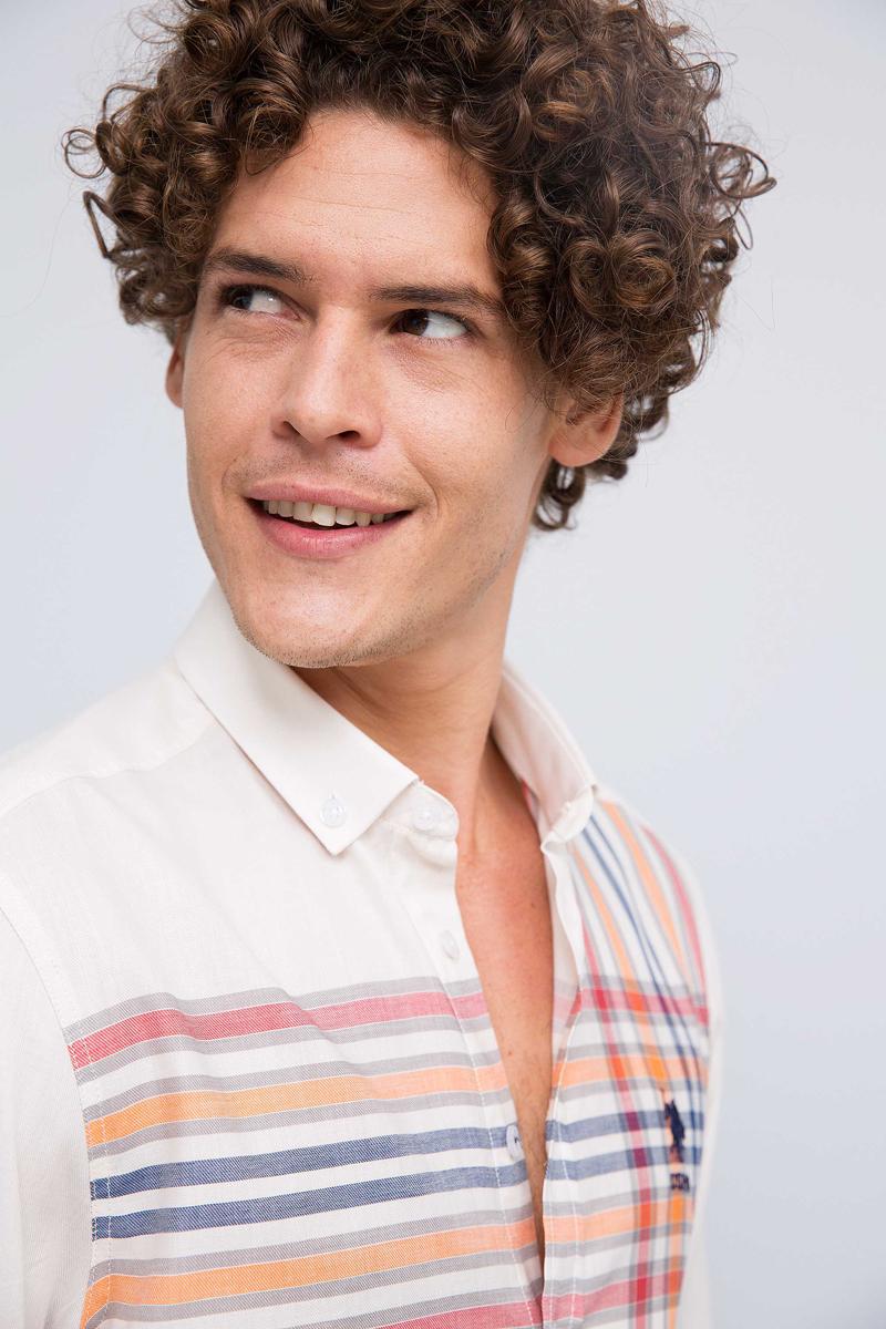 Рубашка мужская U.S. Polo Assn., цвет: красный. G081GL004ARMAPANTILIMON. Размер XL (54) virtue мужская рубашка бизнес стиль