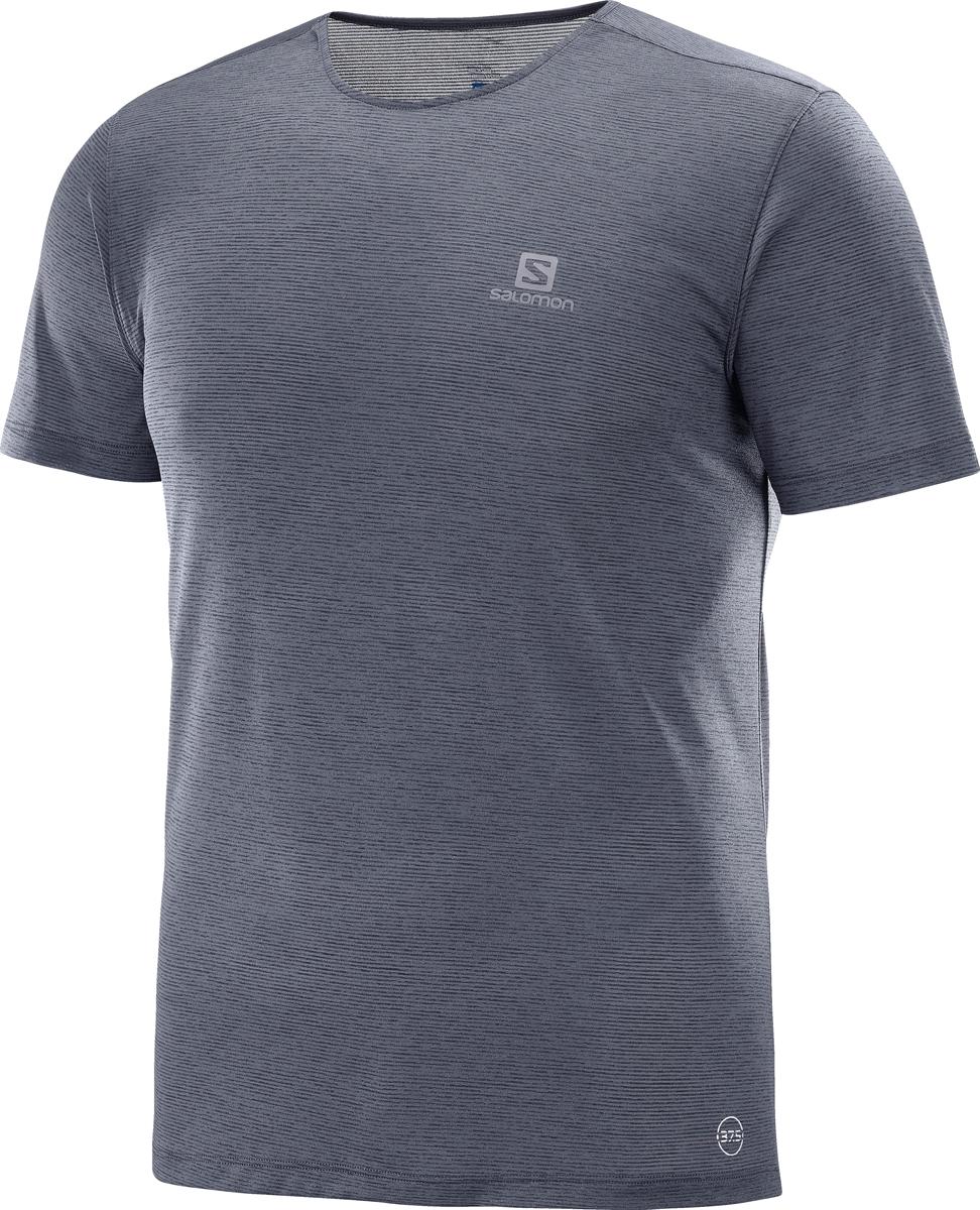 Футболка мужская Salomon Cosmic Crew SS Tee M, цвет: серый. L40094600. Размер XXL (54)