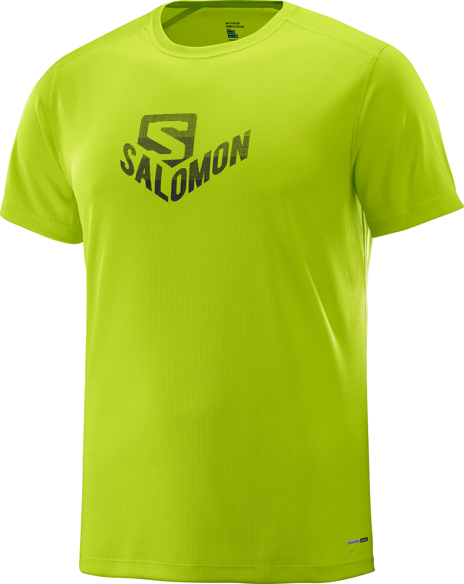 Футболка мужская Salomon Stroll Graphic SS Tee M, цвет: лайм. L40097600. Размер XXL (54) футболка спортивная salomon salomon sa007emzos49