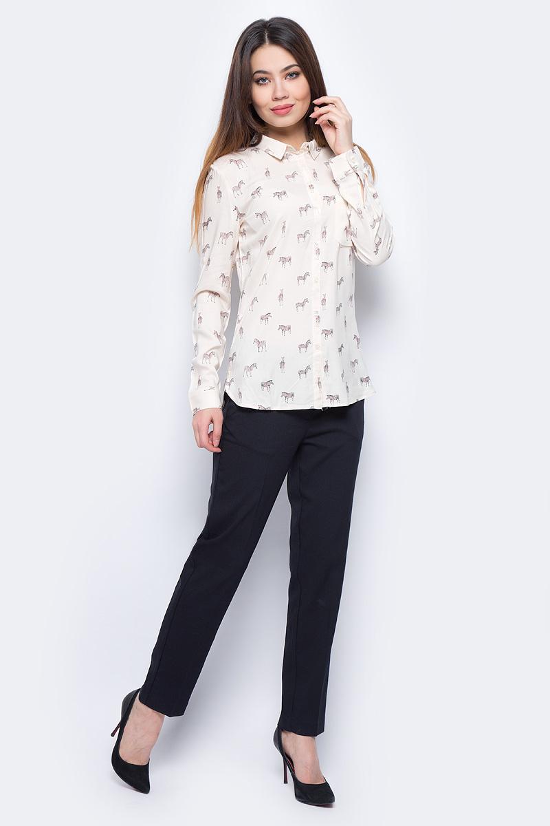 Блузка женская Sela, цвет: светло-бежевый. B-312/024-8131. Размер 44B-312/024-8131