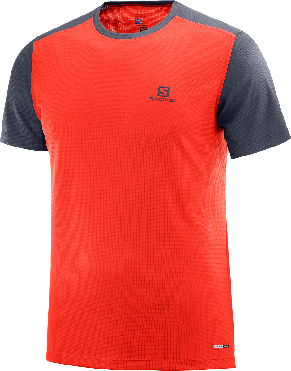Футболка мужская Salomon Stroll SS Tee M, цвет: красный. L40097100. Размер XXL (54) cctv indoor 1080p 2 5 mini dome ptz camera sony imx323 ahd tvi cvi cvbs 4in1 2mp pan tilt 4x zoom day night ir 40m osd menu