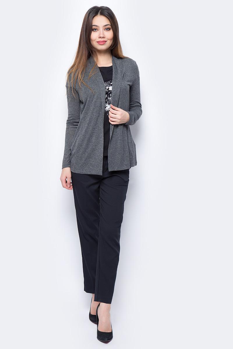 Кардиган женский Sela, цвет: темно-серый. CNk-113/941-8111. Размер L (48)CNk-113/941-8111