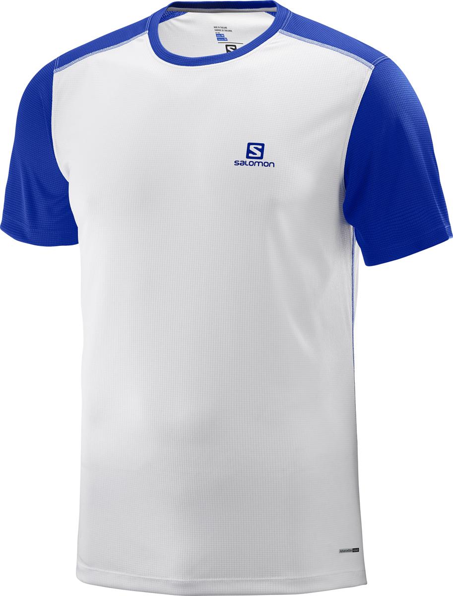 цена на Футболка мужская Salomon Stroll SS Tee M, цвет: белый. L40207100. Размер XXL (54)