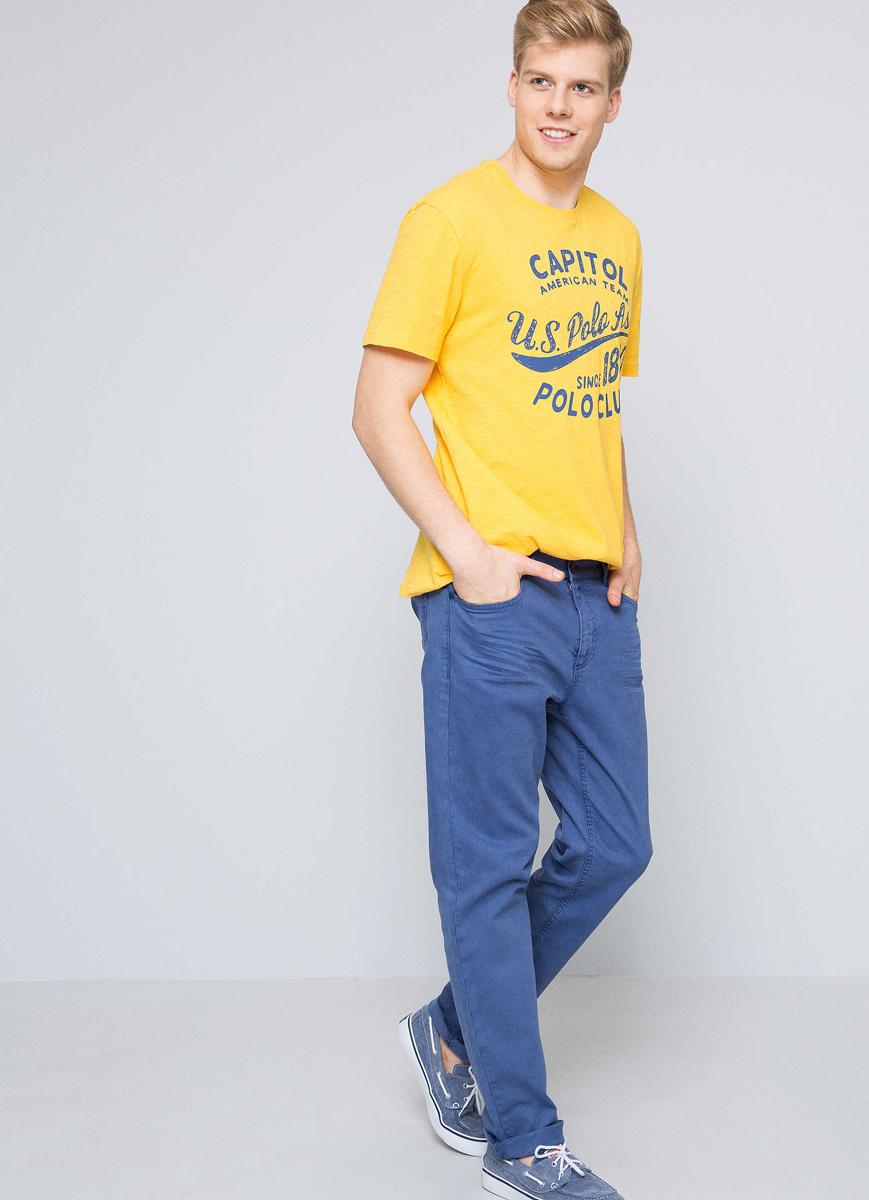 Футболка мужская U.S. Polo Assn., цвет: желтый. G081GL0110LARKIN. Размер S (48)G081GL0110LARKIN