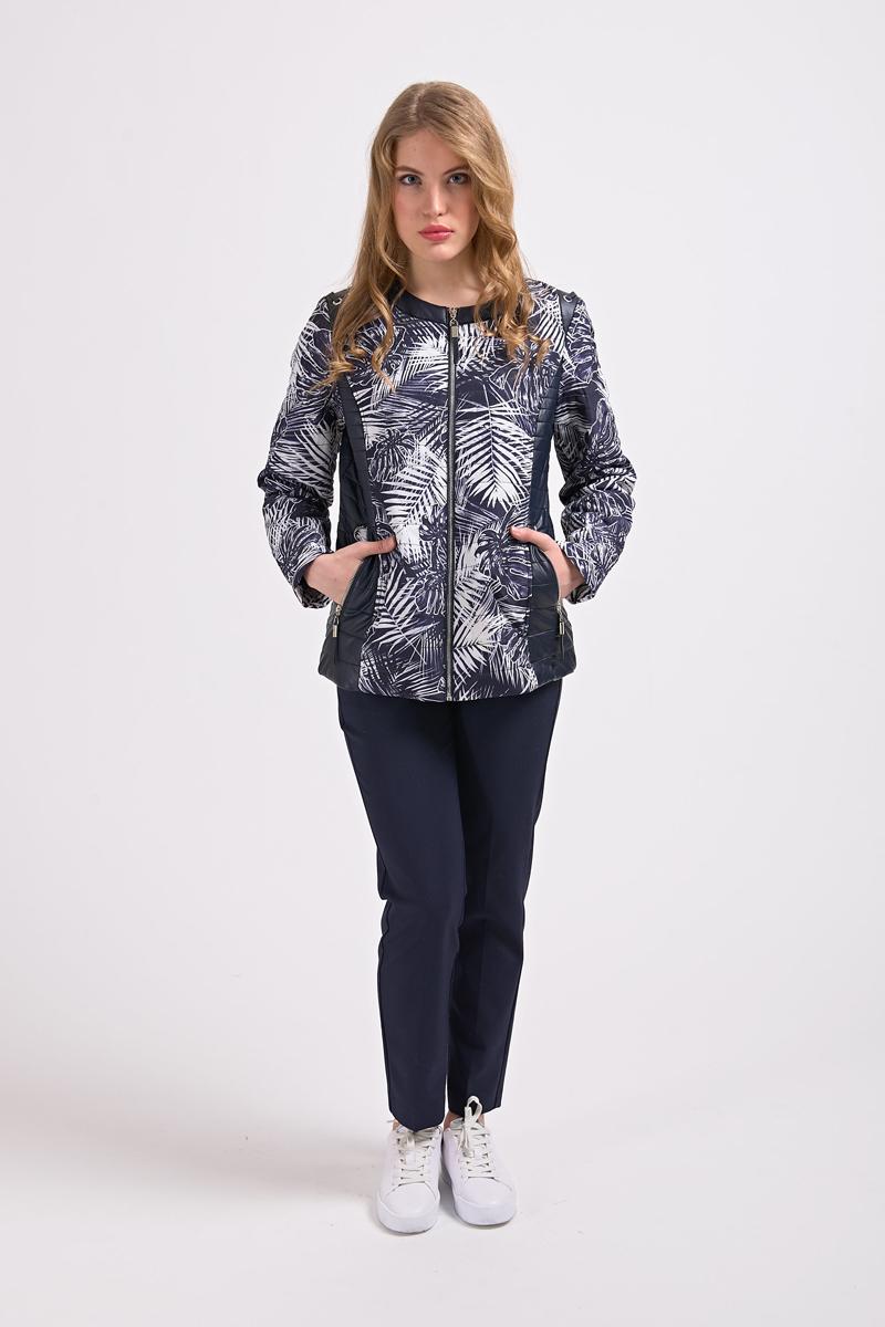 Куртка женская Elfina, цвет: мультиколор. 7060ТС_8-8Н. Размер 547060ТС_8-8Н