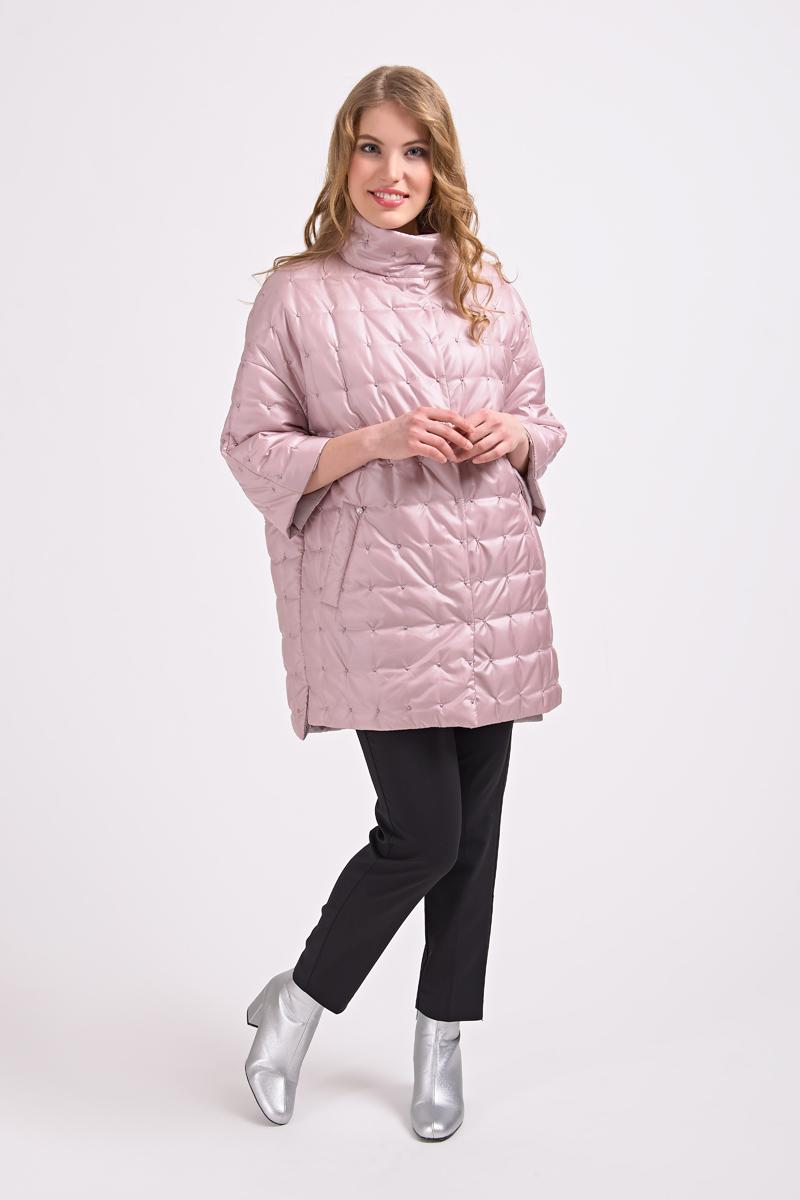 Куртка женская Elfina, цвет: розовый. 17038_PINK. Размер 50 женская утепленная куртка 2015 new non elastic cuffs 2015