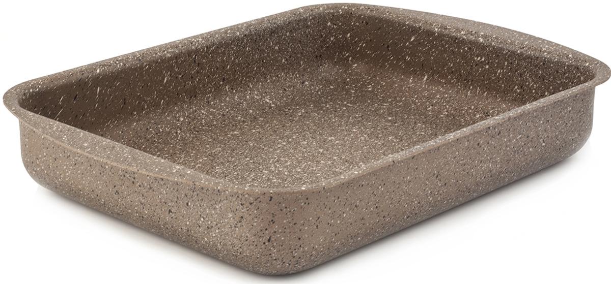 Противень TimA Art Granit, с антипригарным покрытием, 35 х 27 смAT-3527Противень TimA Art Granit изготовлен из алюминия с антипригарным покрытием. Добавление каменной крошки и минеральных частиц в слои покрытия делает его более прочным, долговечным и стойким к химическим воздействиям. Особая формула швейцарского антипригарного покрытия последнего поколения ILAG обеспечивает наилучшее сцепление с поверхностью, устойчивость к износу и позволяет легко мыть посуду. Ручки с покрытием softtouch приятны на ощупь, не скользят в мокрых руках и не нагреваются. Повредить поверхность посуды серии Art Granit практически невозможно даже при использовании металлических предметов.