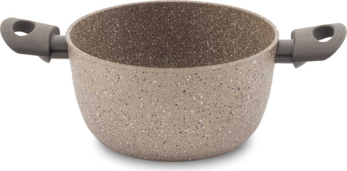Кастрюля TimA Art Granit Induction, с крышкой, с антипригарным покрытием, 2,5 лATI-5120Особенностью кастрюли TimA Art Granit Induction является стальной диск, впрессованный в дно, для получения магнитных свойств. А само дно посуды, используемой на индукционной плите, идеально ровное и гладкое. Добавление каменной крошки и минеральных частиц в слои покрытия делает его более прочным, долговечным и стойким к химическим воздействиям.Особая формула швейцарского антипригарного покрытия последнего поколения ILAG обеспечивает наилучшее сцепление с поверхностью, устойчивость к износу и позволяет легко мыть посуду.Ручки с покрытием Softtouch приятны на ощупь, не скользят в мокрых руках и не нагреваются.Повредить поверхность посуды серии Art Granit практически невозможно даже при использовании металлических предметов.Подходит для использования на всех типах плит, включая индукционные.