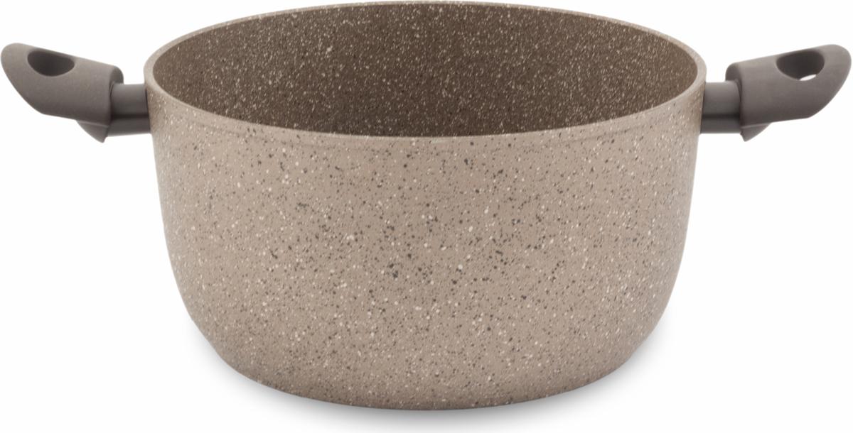 """Кастрюля TimA """"Art Granit Induction"""" изготовлена из алюминия с антипригарным покрытием. Особенностью данной кастрюли является стальной диск, впрессованный в дно, для получения магнитных свойств. А само дно посуды, используемой на индукционной плите, идеально ровное и гладкое. Добавление каменной крошки и минеральных частиц в слои покрытия делает его более прочным, долговечным и стойким к химическим воздействиям.  Особая формула швейцарского антипригарного покрытия последнего поколения ILAG обеспечивает наилучшее сцепление с поверхностью, устойчивость к износу и позволяет легко мыть посуду.  Ручки с покрытием Softtouch приятны на ощупь, не скользят в мокрых руках и не нагреваются.  Повредить поверхность посуды серии Art Granit практически невозможно даже при использовании металлических предметов.   Подходит для использования на всех типах плит, включая индукционные."""