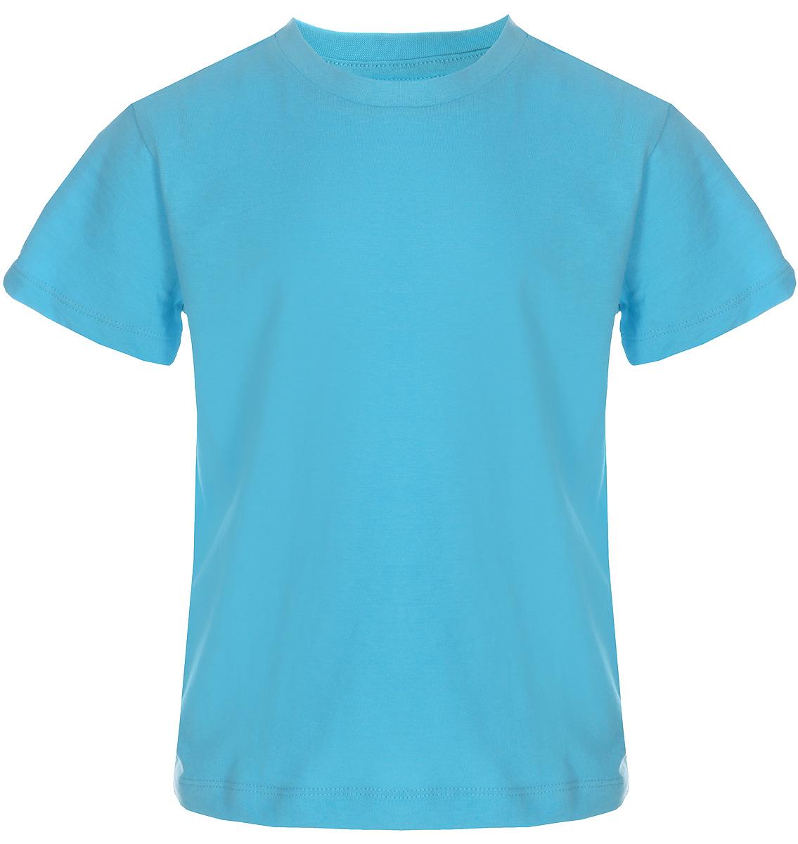 Футболка для мальчика Sela, цвет: бирюзовый. Ts-711/533-8223. Размер 104Ts-711/533-8223Футболка для мальчика Sela выполнена из натурального хлопка. Модель с круглым вырезом горловины и короткими рукавами.