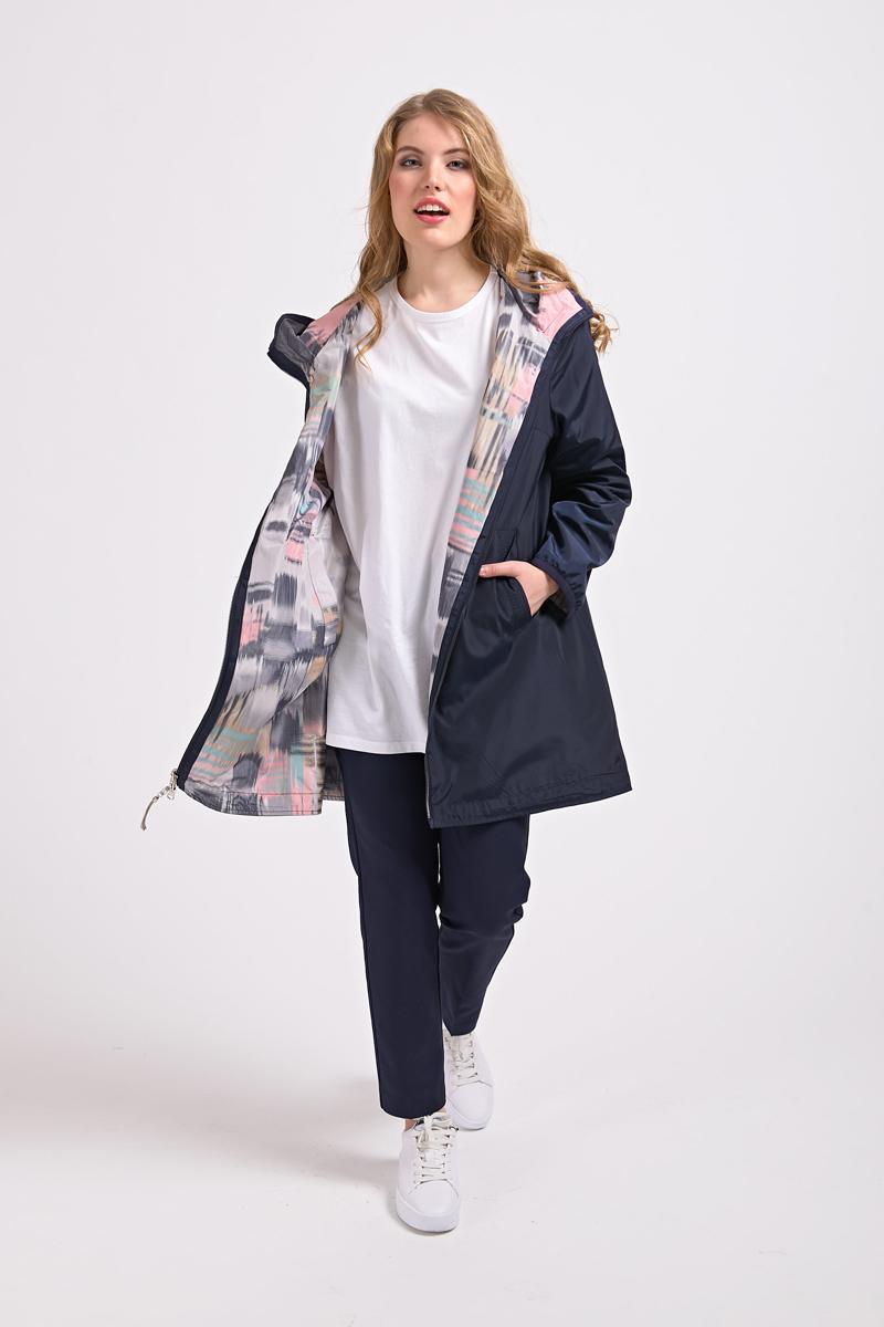 Куртка женская Elfina, цвет: синий. 17009_90370-3. Размер 5217009_90370-3
