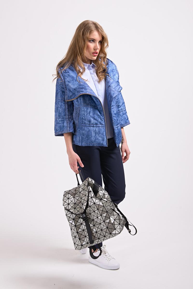 Куртка женская Elfina, цвет: синий. 17052_DEEP BLUE. Размер 4817052_DEEP BLUE