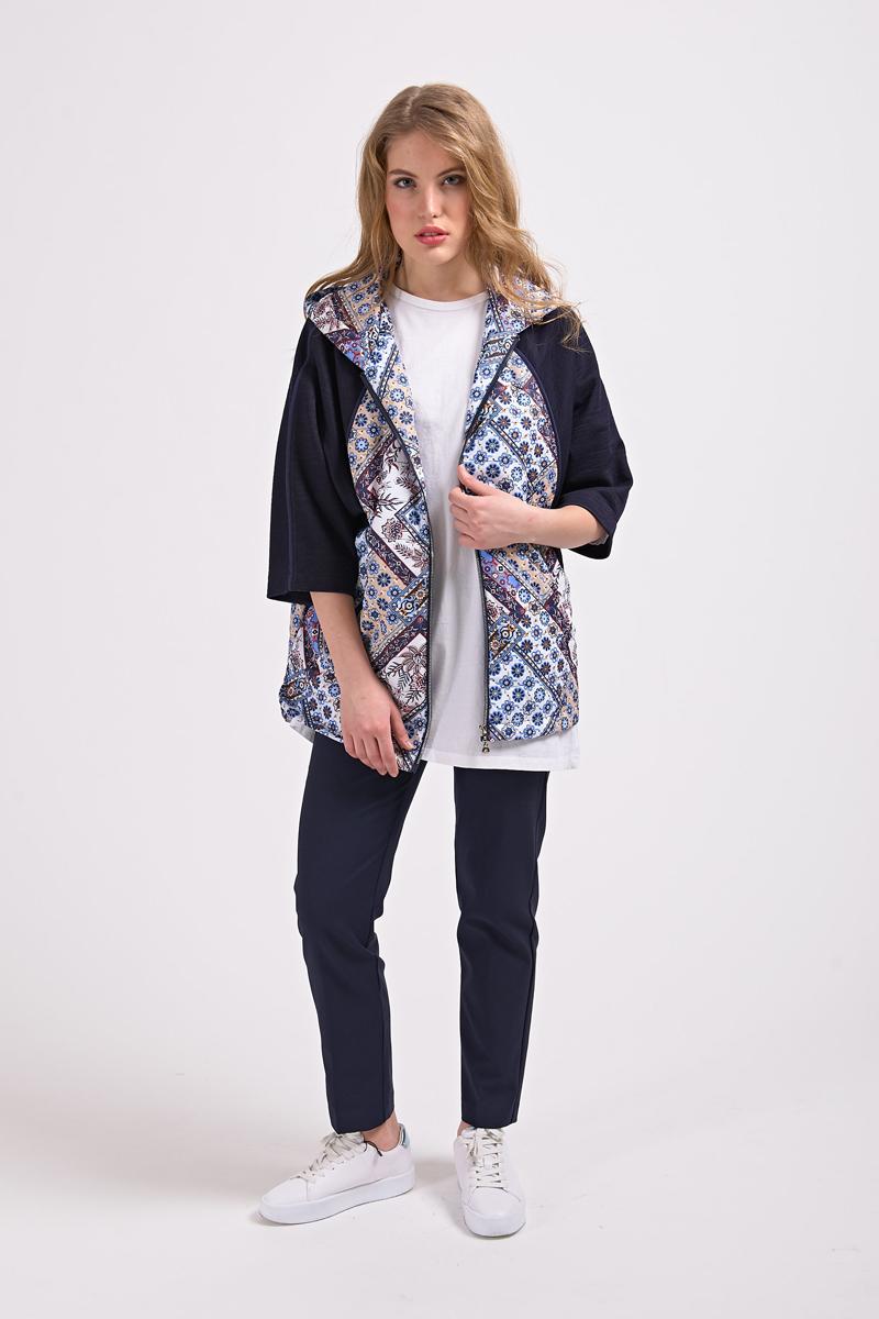 Куртка женская Elfina, цвет: синий. 7012_E69. Размер 487012_E69